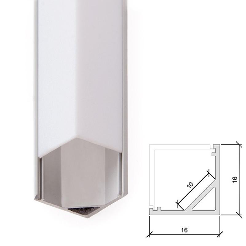 Perfíl Aluminio para Tira LED Difusor Opal 2M - Imagen 1