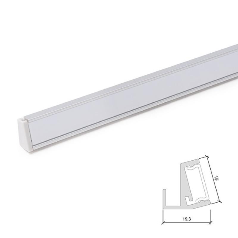 Perfíl Aluminio para Tira LED Estanterías Cristal 6Mm 1M - Imagen 1