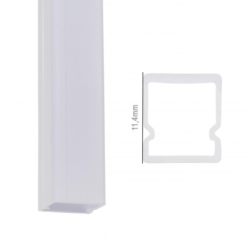Perfíl Policarbonato para Tira LED IP68 - Difusor Opal 2M - Imagen 1