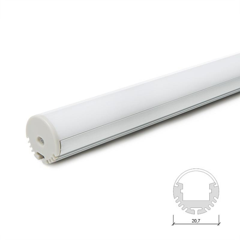 Perfíl Aluminio para Tira LED Suspendible - Difusor Opal 2M - Imagen 1