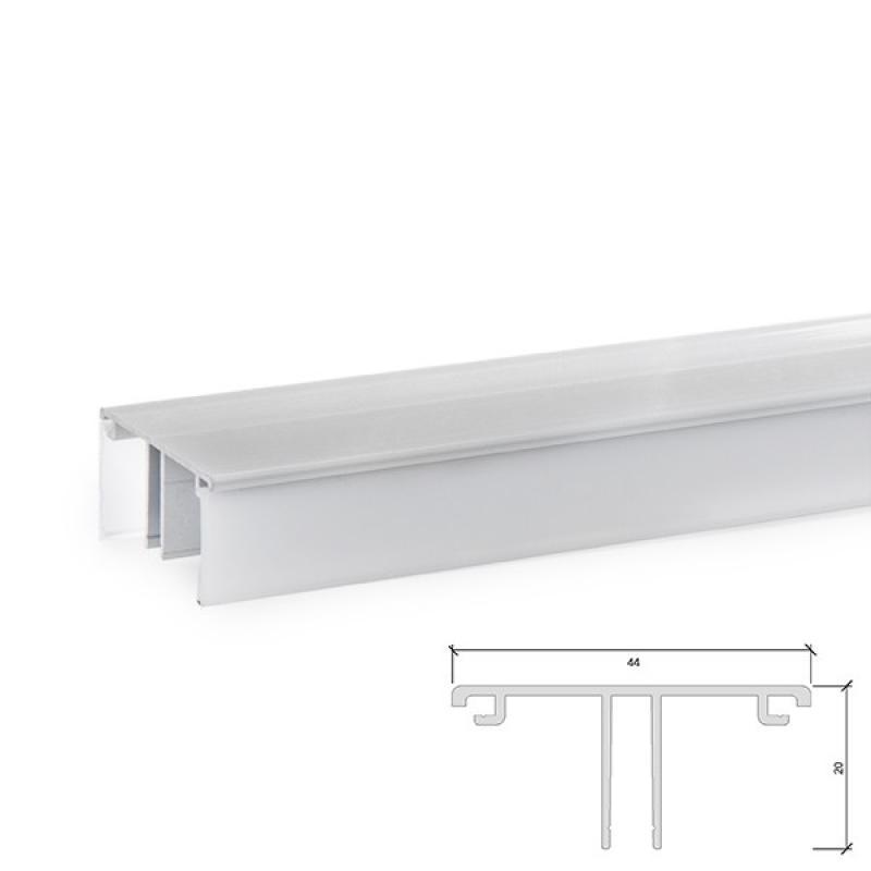 Perfíl Aluminio para Tira LED A4420 Iluminación Arriba/Abajo - Tira 2M - Imagen 1