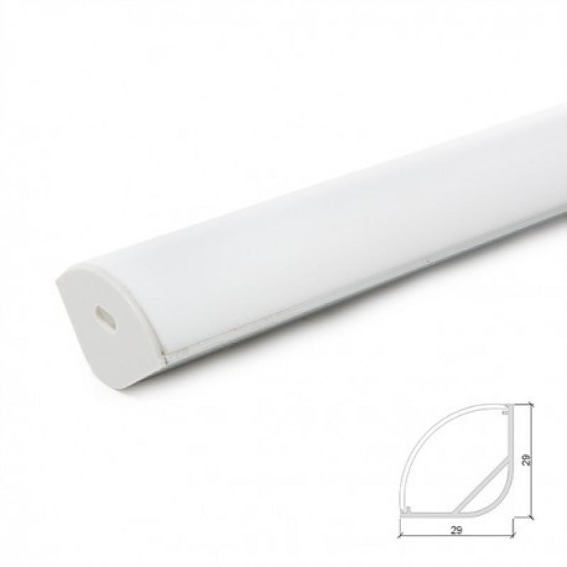 Perfíl Aluminio para Tira LED Difusor Opal - 2M - Imagen 1