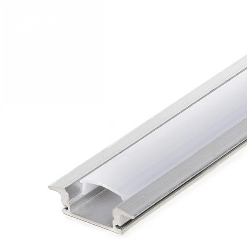 Perfíl Aluminio para Tira LED - Difusor Opal 2M - Imagen 1