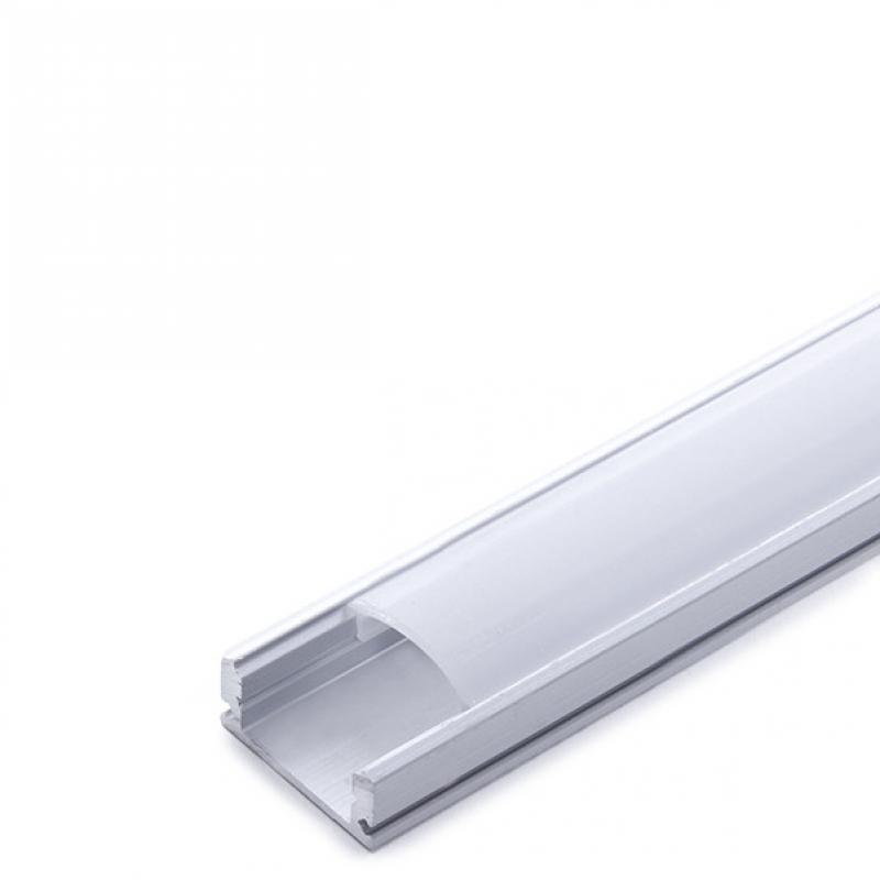 Perfíl Aluminio para Tira LED - Difusor Opal 1M - Imagen 1