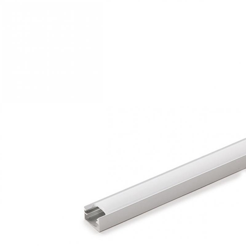 Perfíl Aluminio para Tira LED Difusor Opal 1M - Imagen 1