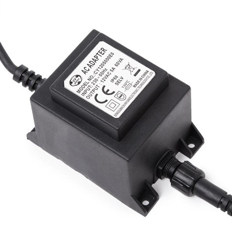 Transformador LED 60W 230VAC/12VAC Sumergible IP68 - Imagen 1