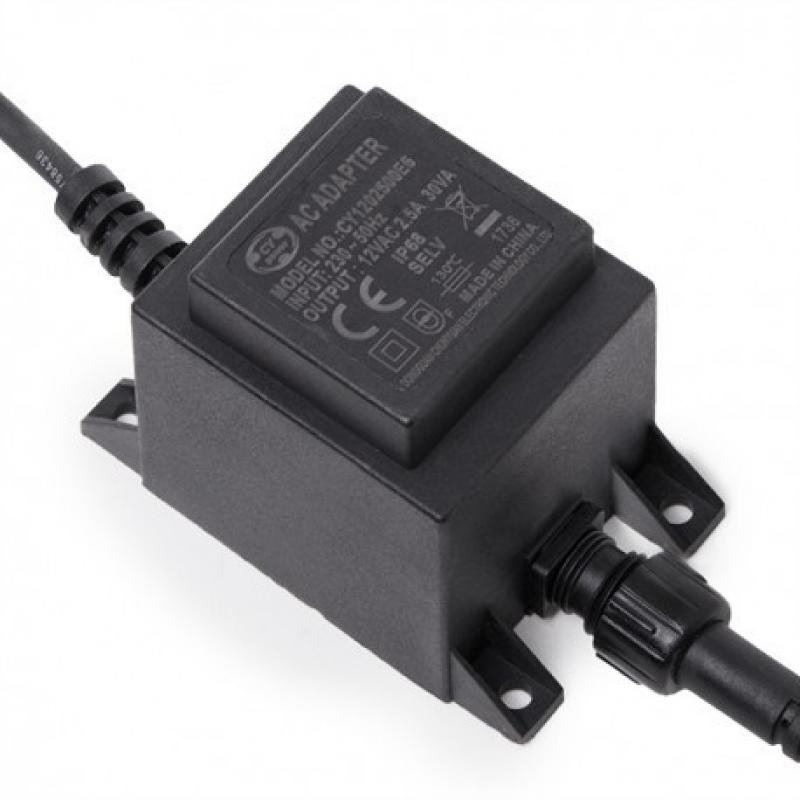 Transformador LED 30W 230VAC/24VAC Sumergible IP68 - Imagen 1