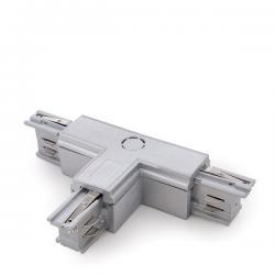 Conector T Carril Trifásico Plata - Imagen 1