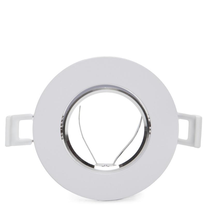 Aro Foco Downlight Circular Basculante Aluminio Blanco 93Mm - Imagen 1