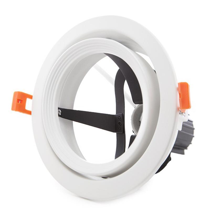 Aro Foco Downlight Par 30 E27 (Sin Lámpara) Blanco - Imagen 1