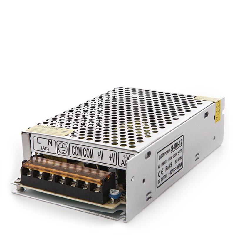 Transformador LED 230VAC/12VDC 80W 6,5A IP25 - Imagen 1
