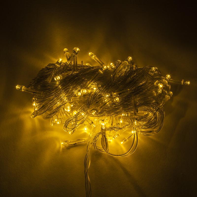 Guirnalda LED 100 Luces IP44 220V 10M Blanco Cálido - Imagen 1