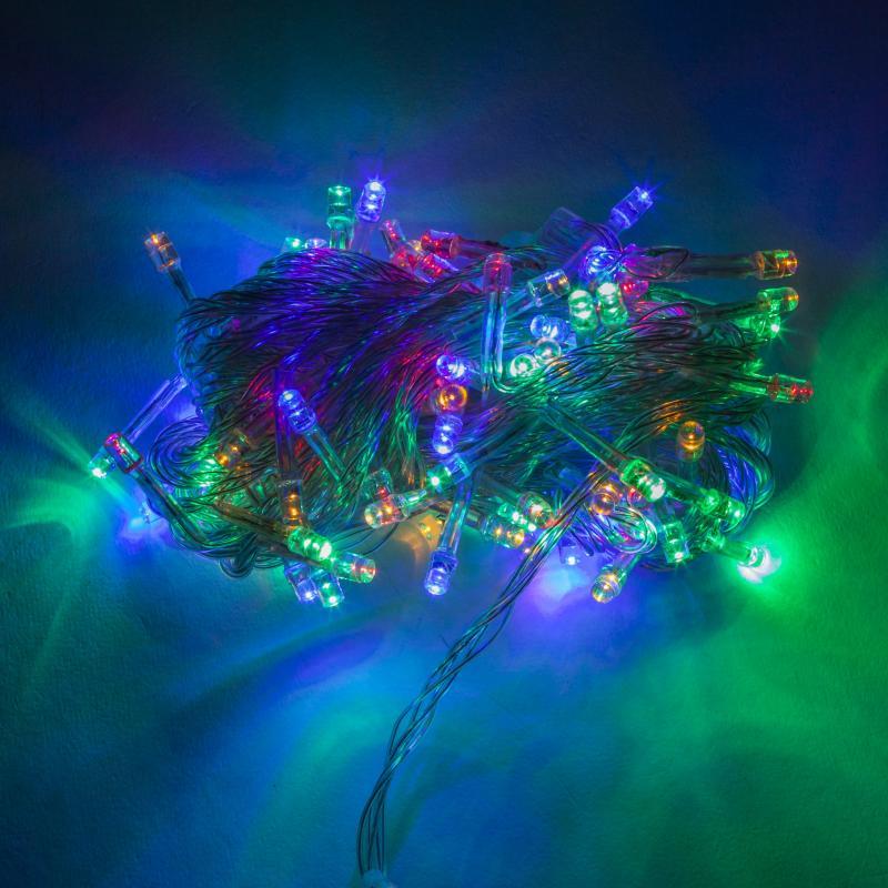 Guirnalda LED 100 Luces IP44 220V 10M Multicolor - Imagen 1