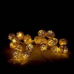 Guirnalda LED 20 Luces LED 4 M IP25 Controlador Blanco Cálido