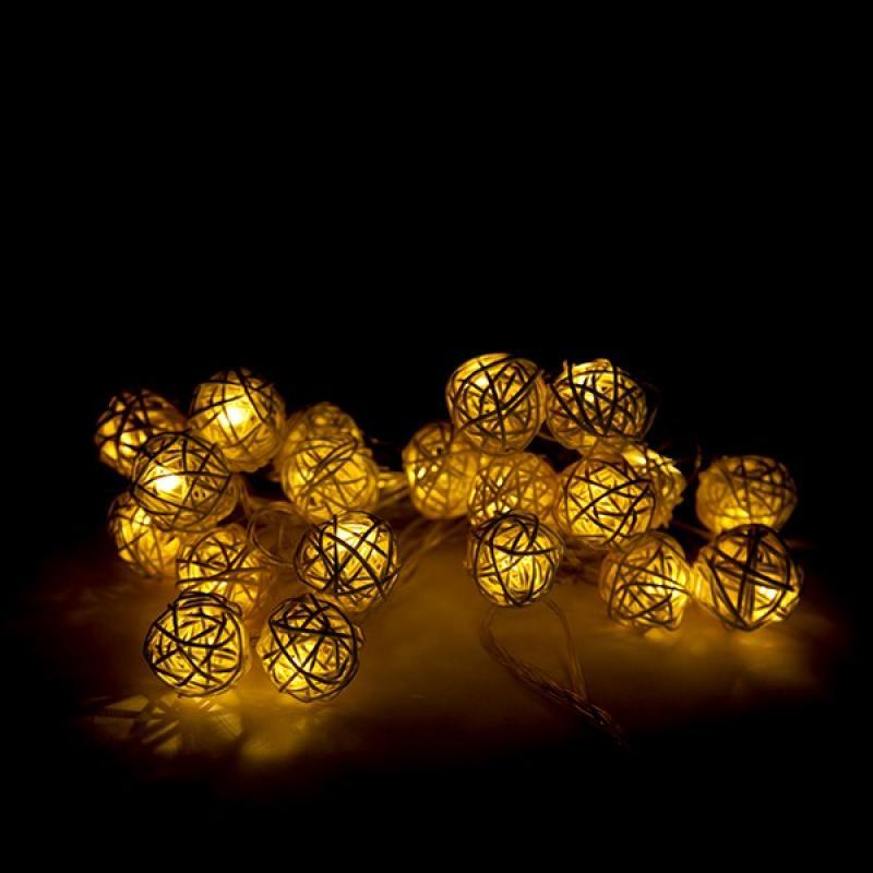 Guirnalda LED 20 Luces LED 4 M IP25 Controlador Blanco Cálido - Imagen 1