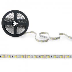 Tira LED 12VDC SMD5050 60LEDs 72W Cálido/Frío IP25 5M