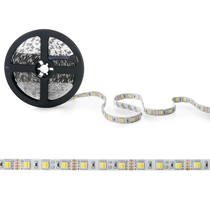 Tira LED 12VDC SMD5050 60LEDs 72W Cálido/Frío IP25 5M - Imagen 1