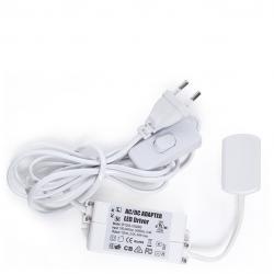 Transformador Interruptor Conector 6 Vías Estanterías 24W 12VDC