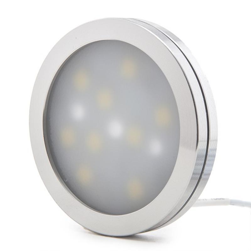 Mini Plafón LED Superficie Muebles 2W 200Lm 30.000H Cable 2M - Imagen 1
