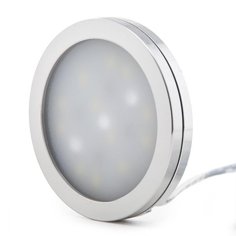Mini Plafón LED Superficie Muebles 3W 300Lm 30.000H Cable 2M - Imagen 1