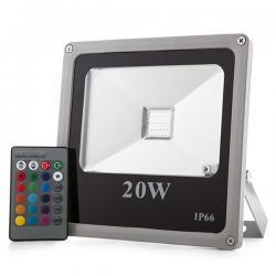 Foco Proyector LED IP65 Ecoline 20W RGB Mando a Distancia - Imagen 1