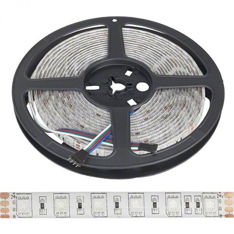 Tira LED 24VDC 300 xsmd 5050 5M RGB IP65 Exterior - Imagen 1
