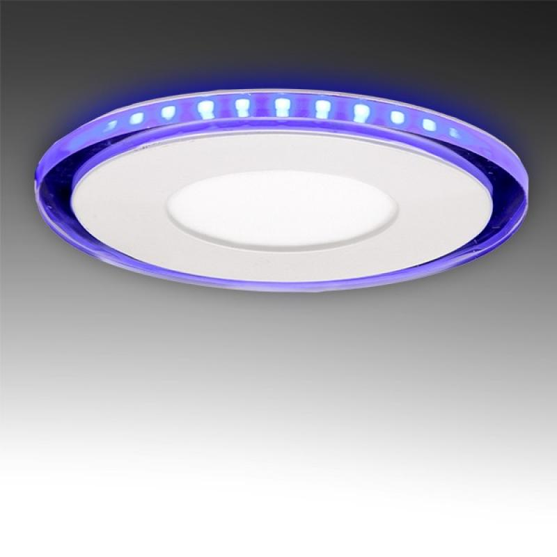 Foco Downlight LED Circular con Cristal Duo (Blanco/Azul) Ø130Mm 10W 800Lm 30.000H - Imagen 1