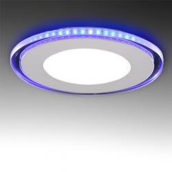 Foco Downlight LED Circular con Cristal Duo (Blanco/Azul) Ø160Mm 15W 1200Lm 30.000H