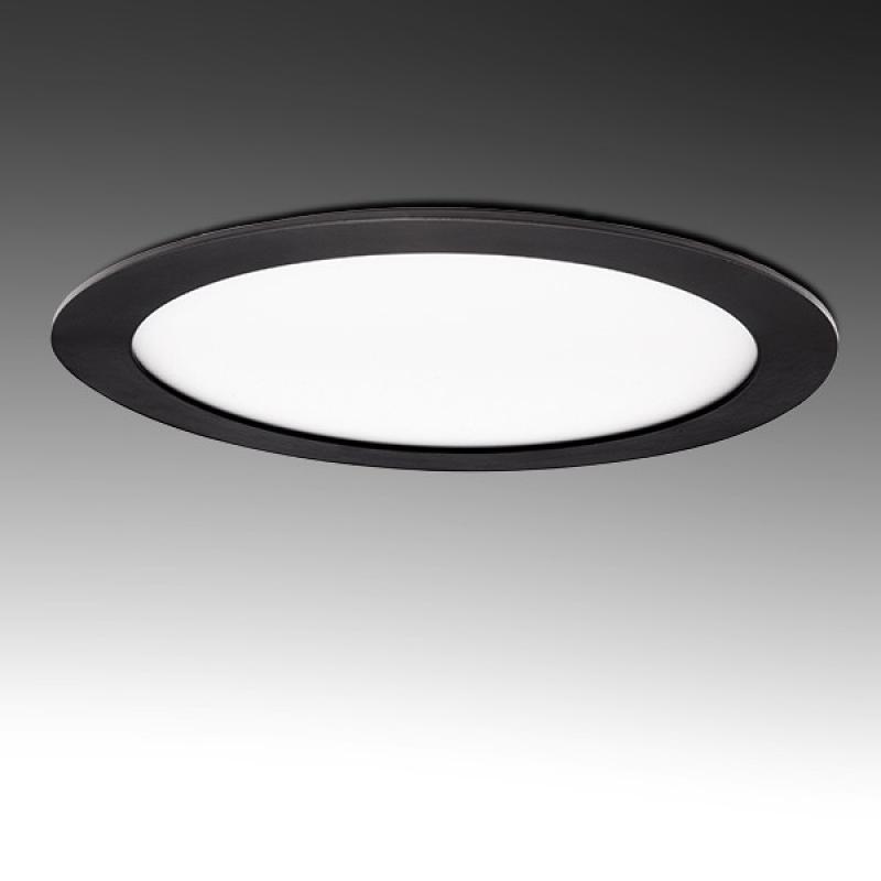 Placa Led Circular Marco Negro 225Mm 18W 1380Lm 30.000H - Imagen 1