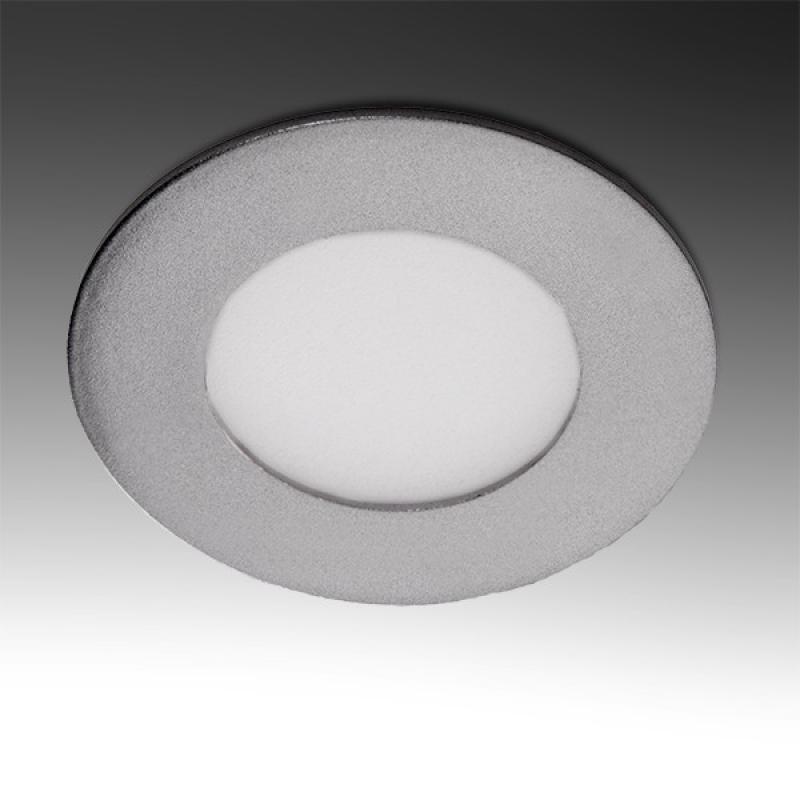 Placa Led Circular Marco Plateado 90Mm 3W 230Lm 30.000H - Imagen 1