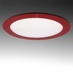 Placa Led Circular Marco Rojo 225Mm 18W 1380Lm 30.000H