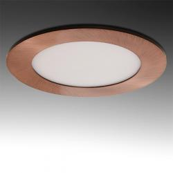 Placa Led Circular Ø120Mm 6W 480Lm 50.000H Bronce