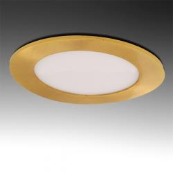 Placa Led Circular Ø120Mm 6W 480Lm 50.000H Dorado