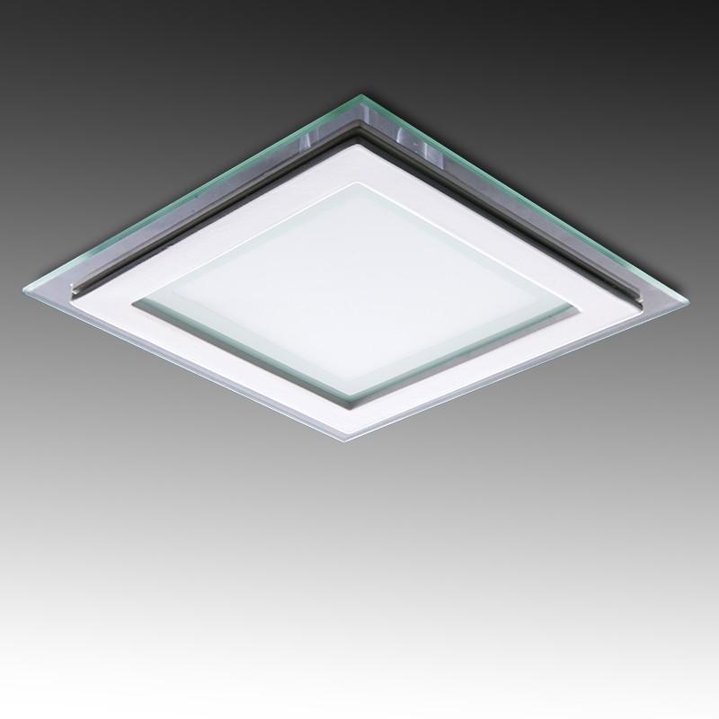 Foco Downlight LED Cuadrado con Cristal 160X160Mm 12W 900Lm 30.000H - Imagen 1