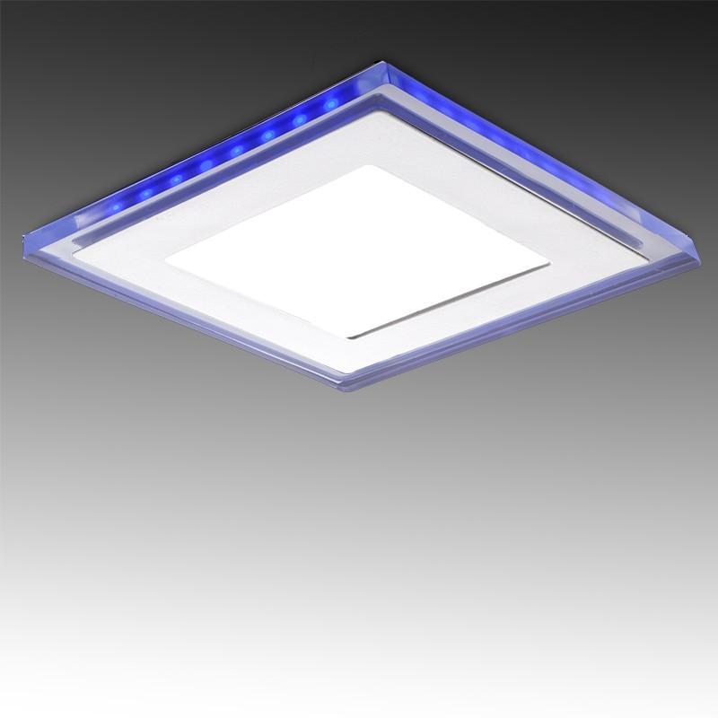 Foco Downlight LED Cuadrado con Cristal Duo (Blanco/Azul) 160X160Mm 15W 1200Lm 30.000H - Imagen 1