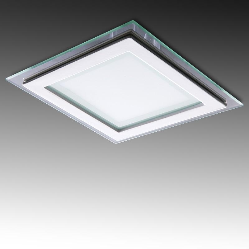 Foco Downlight LED Cuadrado LED con Cristal 200X200Mm 18W 1500Lm 30.000H - Imagen 1