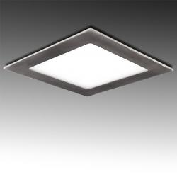 Placa Led Cuadrada 225X225Mm 18W 1300Lm 50.000H Niquel Satinado