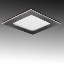 Placa Led Cuadrada 120X120 Mm 6W 480Lm 50.000H Niquel Satinado