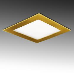 Placa Led Cuadrada 170X170Mm 12W 860Lm 50.000H Dorado