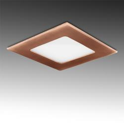 Placa Led Cuadrada 120X120 Mm 6W 480Lm 50.000H Bronce