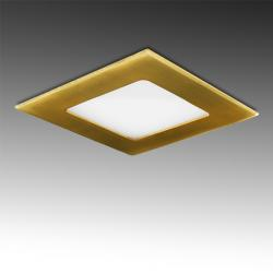 Placa Led Cuadrada 120X120 Mm 6W 480Lm 50.000H Dorado