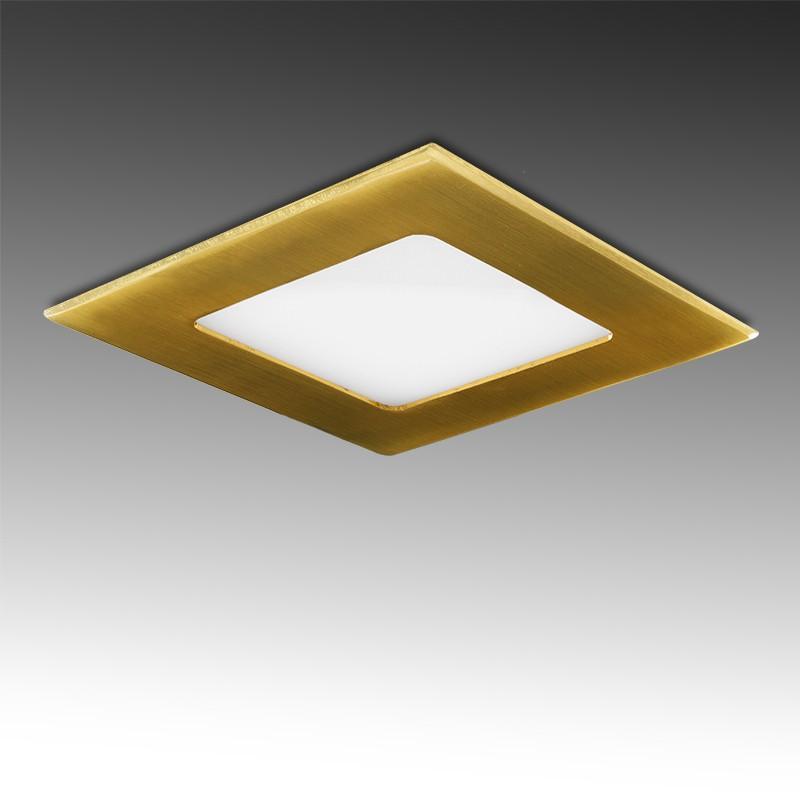 Placa Led Cuadrada 120X120 Mm 6W 480Lm 50.000H Dorado - Imagen 1