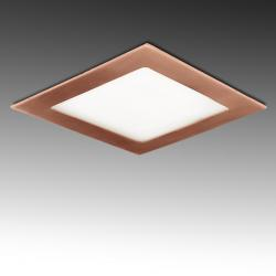Placa Led Cuadrada 170X170Mm 12W 860Lm 50.000H Bronce