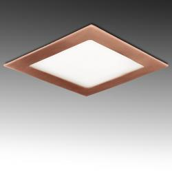 Placa Led Cuadrada 225X225Mm 18W 1300Lm 50.000H Bronce