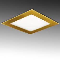Placa Led Cuadrada 225X225Mm 18W 1300Lm 50.000H Dorado