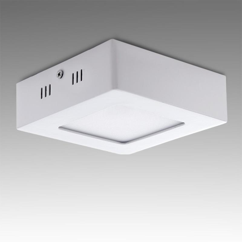 Plafón LED Cuadrado Superficie 120Mm 6W 470Lm 30.000H - Imagen 1