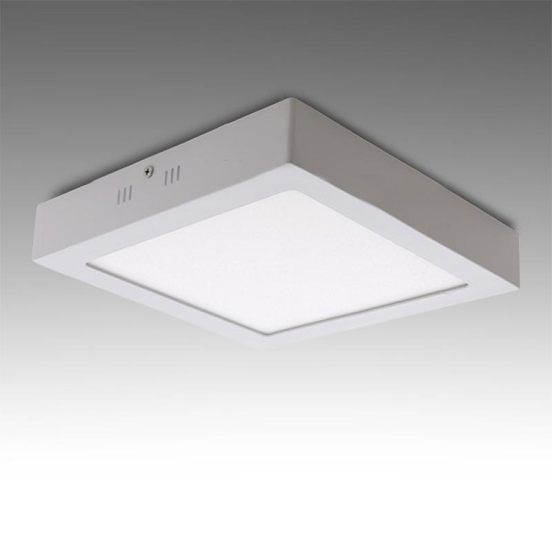Plafón LED Cuadrado Superficie 225Mm 18W 932Lm 30.000H - Imagen 1