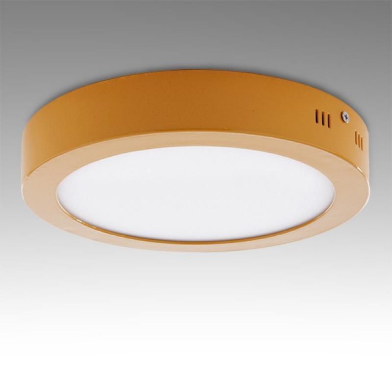 Plafón LED Circular Superficie Ø224Mm 18W 1450Lm 30.000H Amarillo - Imagen 1