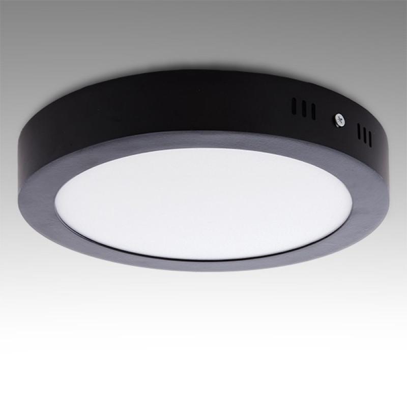 Plafón LED Circular Superficie Ø215Mm 18W 1450Lm 30.000H Negro - Imagen 1