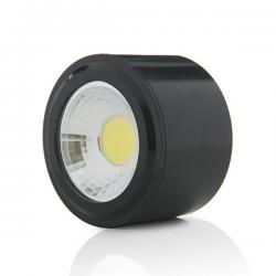 Foco Downlight  LED de Superficie COB Circular Negro Ø68Mm 5W 450Lm 30.000H - Imagen 1